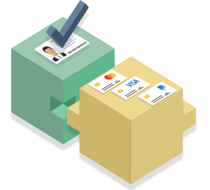 Conversion and payment modules in combination