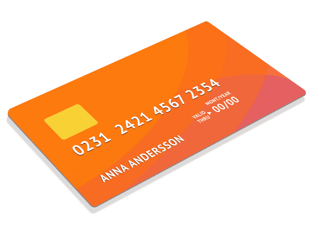 Payer orange credit card