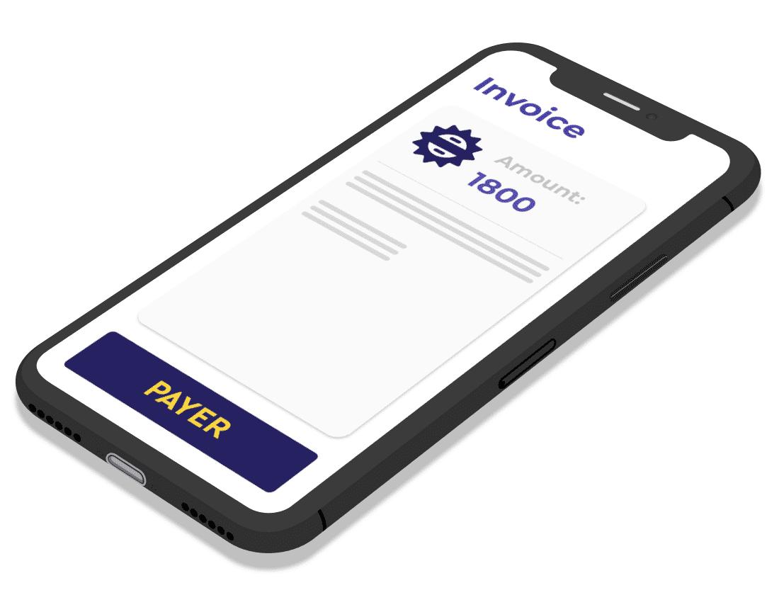 Big image Digital invoice on mobile telephone screen