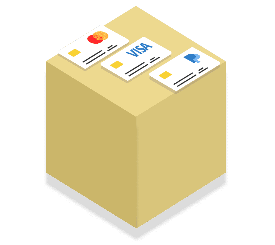 Payer payment module yellow box with cards