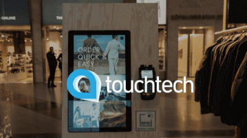Touchtech screen in a store environment