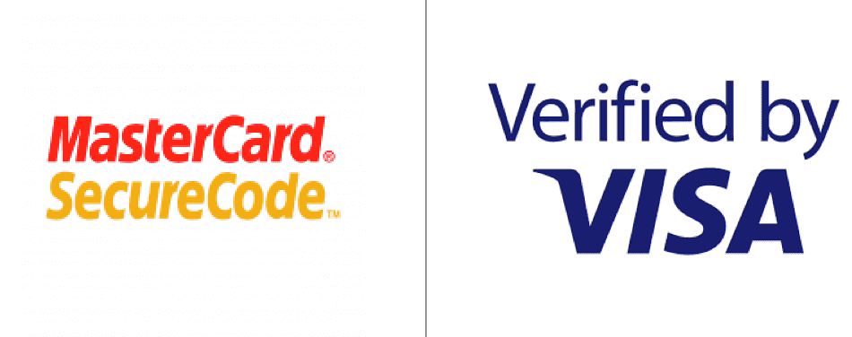 Mastercard SecureCode image and Verified by VISA logo